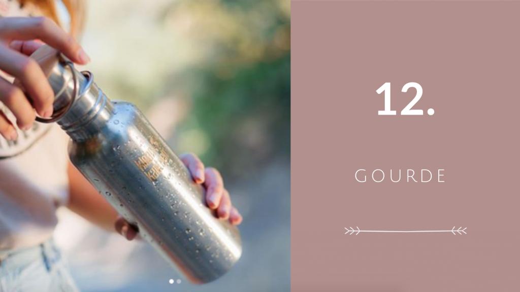 Indispensable 12 pour voyager éco-responsable : gourde