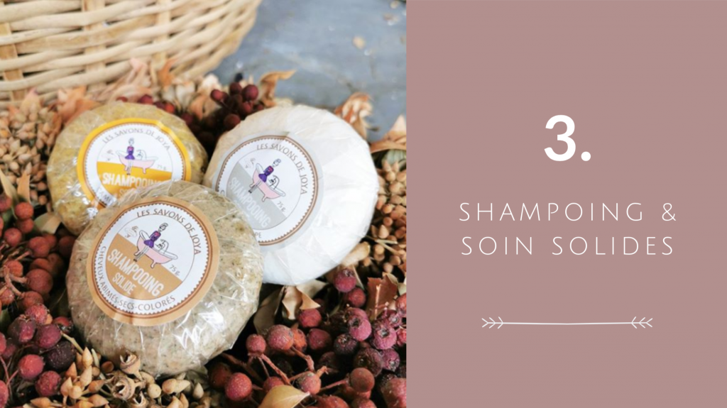 Indispensable 3 pour voyager éco-responsable : shampoing et soin solides