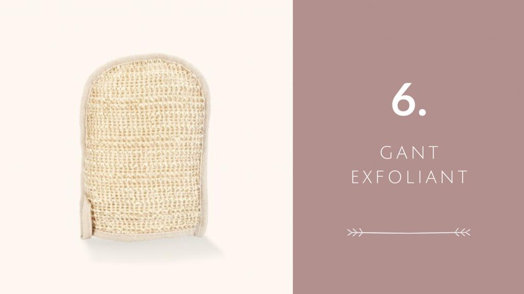 Indispensable 6 pour voyager éco-responsable : gant exfoliant