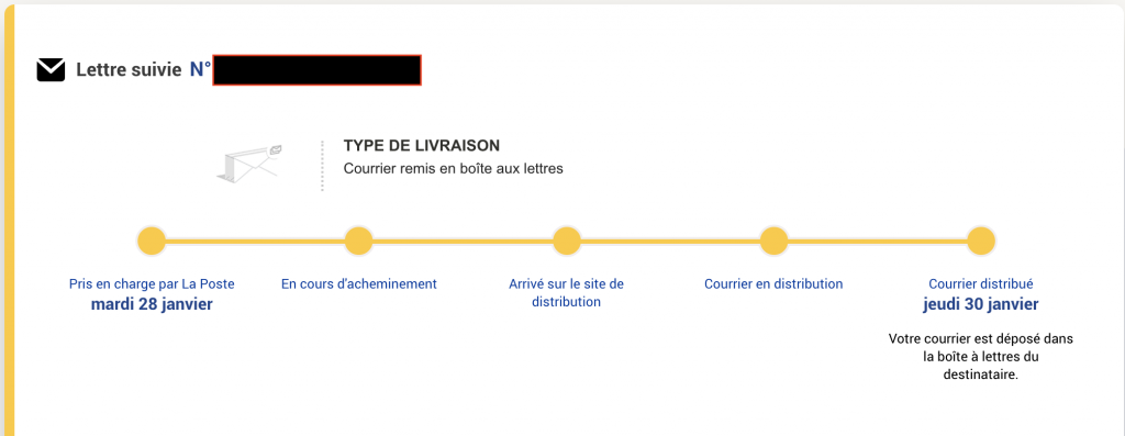 réception du permis de conduire international