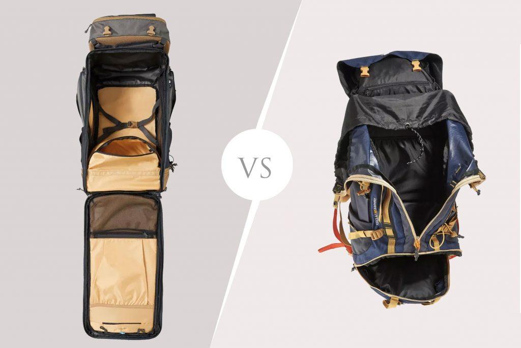 Comparaison des systèmes d'ouverture de sac à dos décathlon