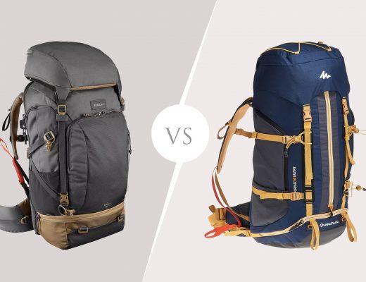 comparaison entre le Travel 500 et le trekking montage 50 L de Forclaz