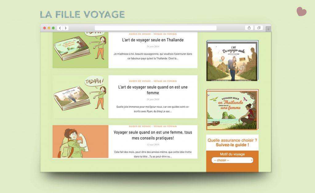 Site Internet du blog La fille voyage
