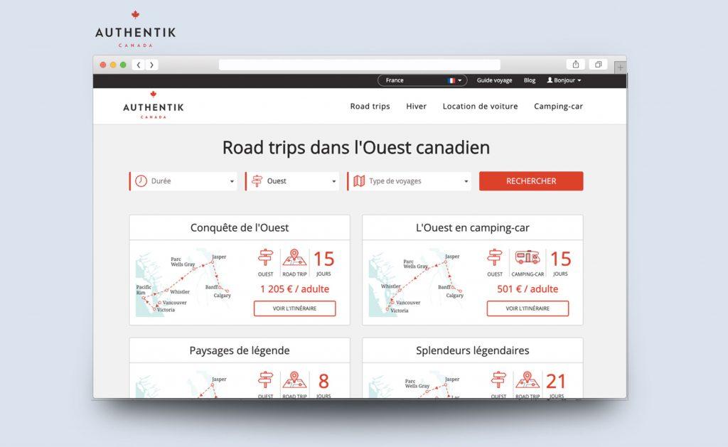 Site Internet Authentik Canada