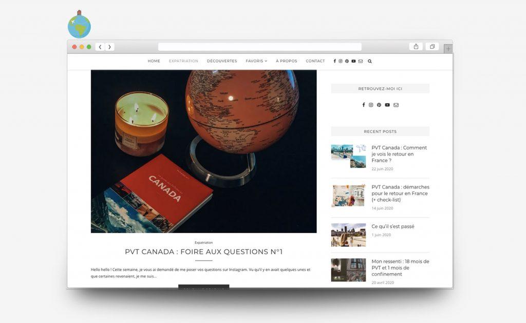 Site Internet du blog Homemileaway