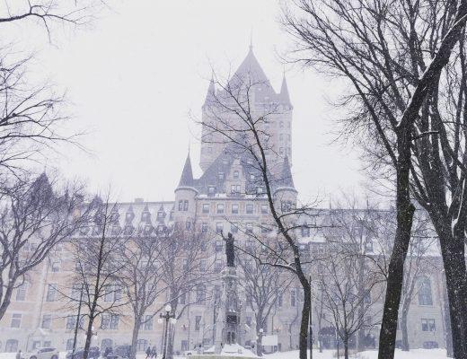 chateau de frontenac sous la neige