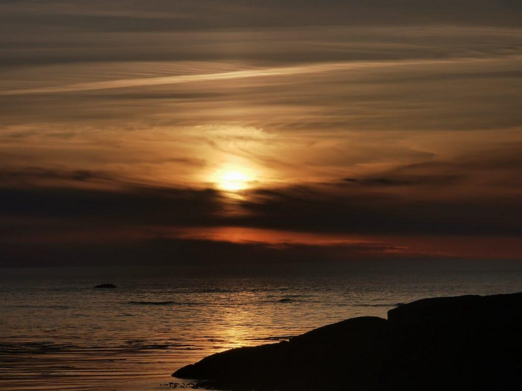 coucher de soleil gaspesie